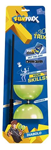 Fun Trix 50625 Diabolo Beluga Spielwaren 50625-Fun Trix, Bunt, 6 x 12 cm