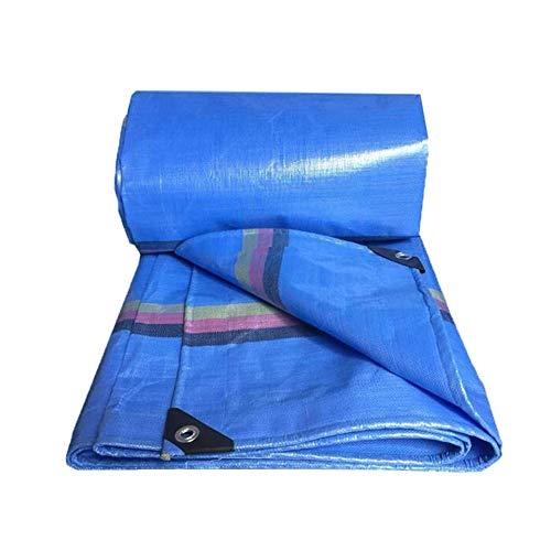 GAOAIHONG Tarp - Multipurpose Cover, Great Tent For Gardening Camping Car Tarpaulin Rain Shed Warehouse Building (Color : Blue, Size : 4x5m)