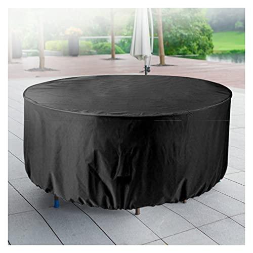 AWSAD Cubiertas Muebles Jardín, Anti-UV Impermeable Tela Oxford 210D Cubierta de Muebles Ratán Cuatro Estaciones, para Fundas Sofás Exterior (Color : Negro, Size : 220x90cm)