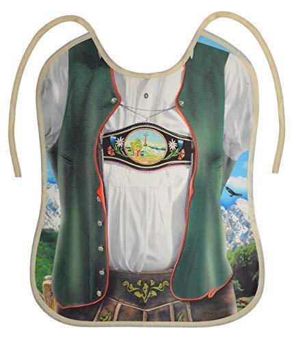 Tini - Shirts Grosses Lätzchen für Erwachsene - Bayrische Tracht Lederhosen Motiv-Latz : Trachtenmann - cooler Sprüche/Motiv Latz für Senioren mit Humor Gr: OneSize