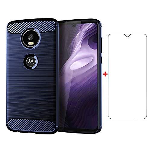 Motorola Moto Z4 Play TXWLS Handy Tasche Schutz Hülle Hülle Cover Etui, blau