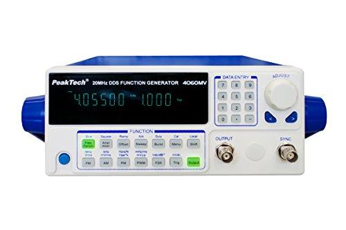 PeakTech Functionele generator 10μHz - 20MHz met 10W versterker/afstandsbediening via USB/FM, AM, PM, PWM, FSK modulatie, 1 stuk, P 4060 MV