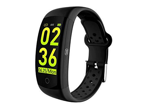 Trevi T-FIT 250 GPS Smart Fitness Band Cardio Frequenzimetro con GPS Tracker, Monitoraggio Sonno e Attività Fisica, Tecnologia PPG, Resistente all'Acqua IP68, Bluetooth, Batteria Ricaricabile, Nero