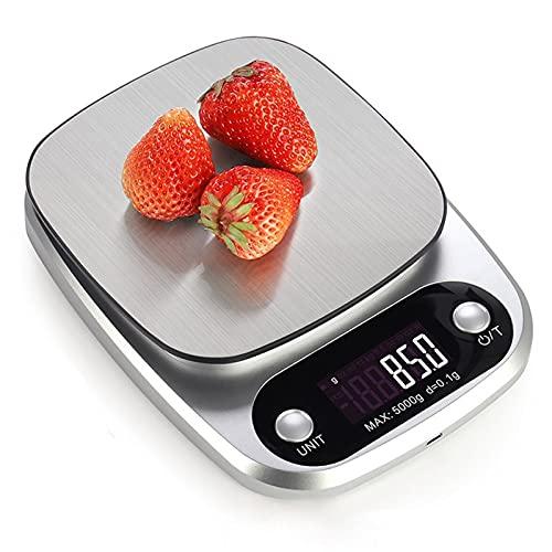 JLFFYJ Báscula de Cocina Electronic Food Scale Herramienta de medición Plataforma de Acero Inoxidable con Pantalla LCD