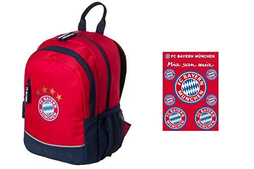 FC Bayern München Kinder-Rucksack + FC Bayern Aufkleberkarte