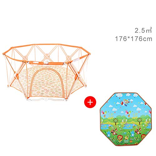 Fantastic Prices! Bed Rail Baby Playpen Portable, 4 Sizes Playpens for Babies, Polygon Infant Play, ...