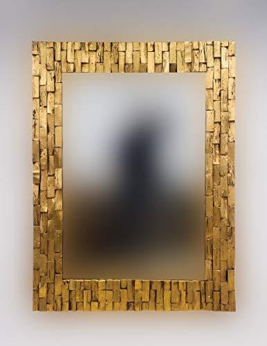 Rococo Espejo Decorativo de Madera Catak Bendy de...