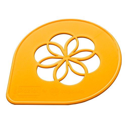 Tassimo Koziol Schablone, Logo, Deko, Blume, Motiv für Kaffee, Orange, Ø 9.5 cm