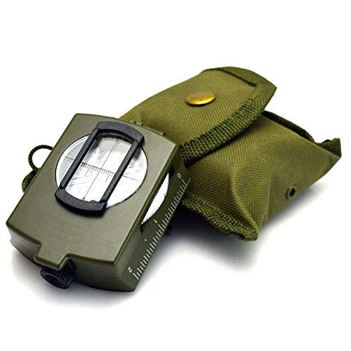 VONOTO Compass, Military Lensatic Sighting Compass with Carrying Bag, Waterproof and Shakeproof