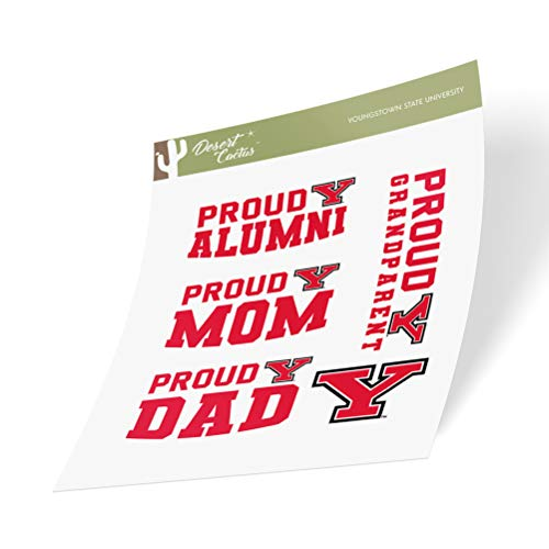 Youngstown State University YSU Penguins NCAA Sticker Vinyl Decal Laptop Water Bottle Car Scrapbook (Family Full Sheet)