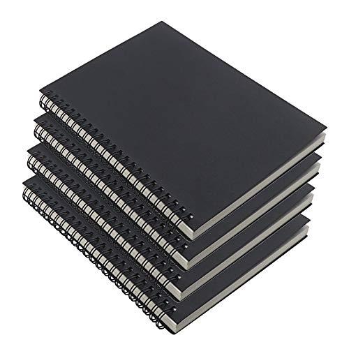 Notizblock mit Spiralbindung, A5, Kraftpapier, Skizzenbuch, 100 Seiten, 50 Blatt,...