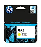 HP 951 Yellow Officejet Ink Cartridge - Cartucho de tinta para impresoras (Amarillo, 700 páginas, Inyección de tinta, 11,4 cm, 12,6 cm, 2,5 cm)