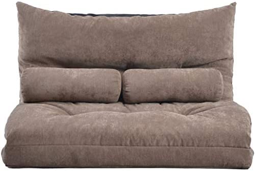 Best Adjustable Floor Sofa and Couch Cushion Padded Gaming Sofa 5-Position Strong Back Support, Functiona
