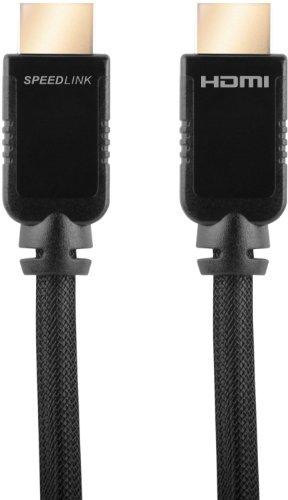 Speedlink Shield-3 Wii U HDMI Kabel (Unterstützt 4K Auflösung in 3D, 60 Fps, 2160p, Datenrate bis zu 14,4 GBit/s, HDMI 2.0, Ethernet)