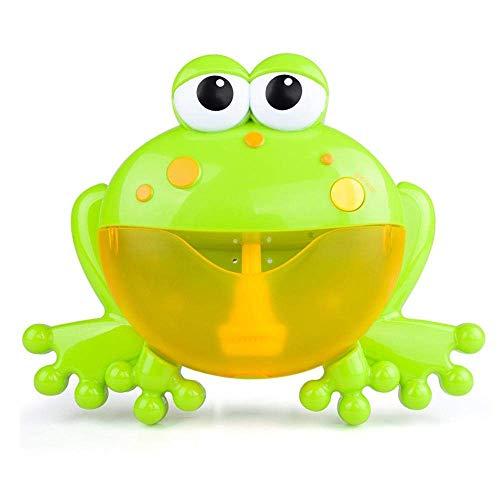 leegoal Badespielzeug Frösche Bubble Maker Machine, Seifenblasenmaschine Automatisiertes Auslauf Krabben Bad Bubble Spielzeuggeschenk mit 12 Kinderlied für Kinder