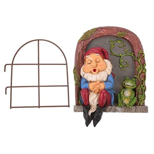 Garneck Elfo Il Hugger Gnome Del Giardino Statua Hugger Giardino Ornamento' albero Decorazione' albero Porta Novità Esterno Figura Giardino di Decorazione di Arte Scultura da