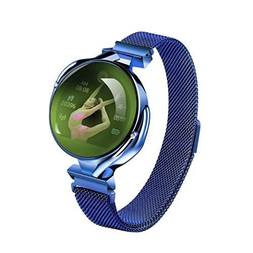 Z38 1.04 Pulgadas IPS Pantalla de Color Mujer Smart Watch IP67 Impermeable (Azul), Liqingshangmao (Color : Blue)