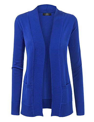 MBJ WSK926 Women's Open Front Knit Cardigan M Royal_Blue
