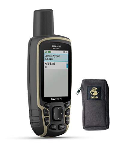 Garmin GPSMAP 65 - Dispositivo de Navegación Portátil GPS para Exteriores con Estuche de Transporte