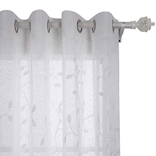cortinas salon modernas 2 piezas cortas