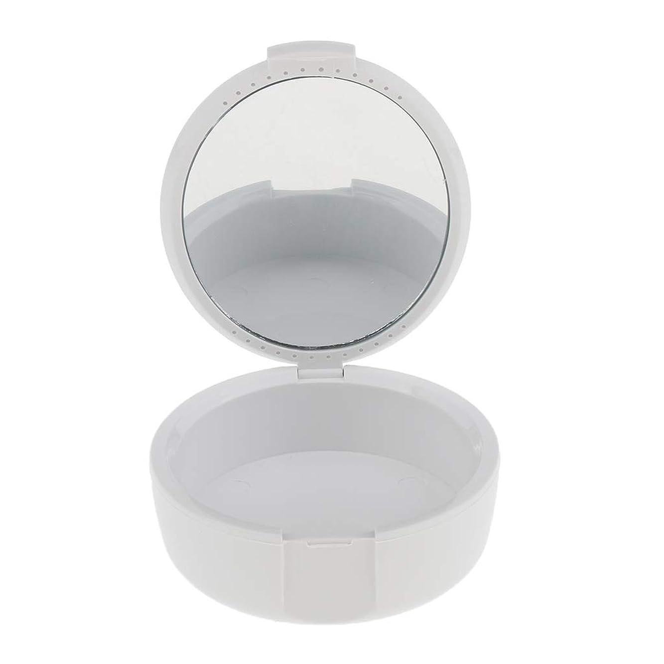 カウンターパート変形眠りD DOLITY 義歯ケース マウスガードケース ミラー付き 便利 2色選べ - 白