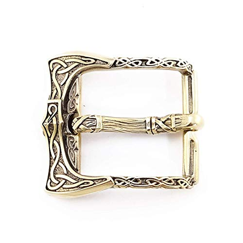 Belt buckle Viking Axe, Old norse scandinavian military solid brass belt buckle with viking weapon axes