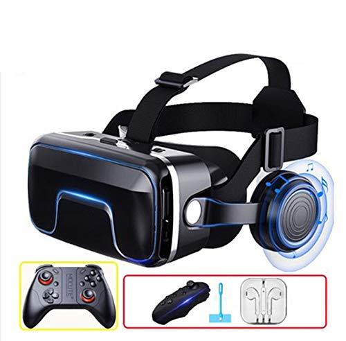 VR Réalité Virtuelle 3D Lunettes Smart Bluetooth Télécommande sans Fil Gamepad Casque VR Telephone/PC VR Casque De Réalité Virtuelle 3D avec Autres Smartphones,G