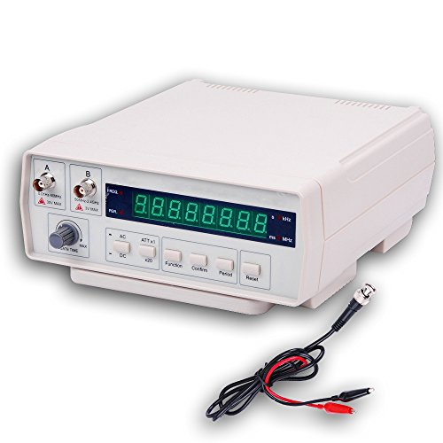 RISEPRO Digital Frequency Counter Bench Frequency Signal Meter with AC Power Cable BNC Test Leads 10Hz - 2.4 GHz VC3165