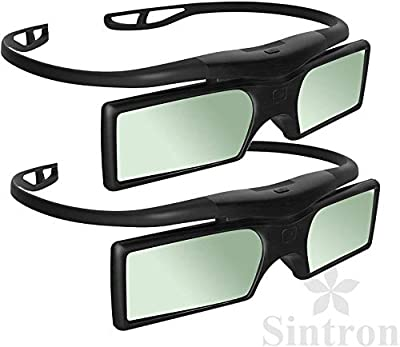 [Sintron] 2X 3D RF Glasses for Sony Panasonic Samsung 3D TV, Compatible with TDG-BT500A TDG-BT400A SSG-5100GB TY-ER3D4MU (2 Pairs)