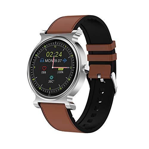 XYZNSH Fitness-Tracker und Intelligente Uhr, 1,3-Zoll-Rundbildschirm, Bluetooth-Anruf, IP67-Wasserdicht, Intelligenter AI-Sprachassistent, Blutdruck-Blutsauerstoff-Überwachung,F