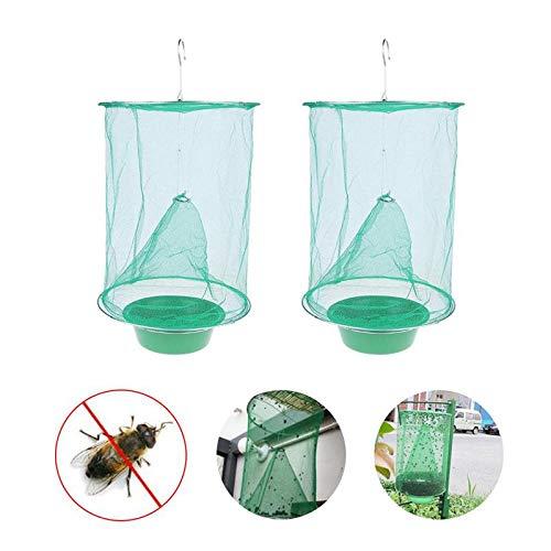 Preisvergleich Produktbild Volwco Ranch Fliegenfalle,  ungiftig,  Futterköder,  Flay Catcher,  effektiver Outdoor Hängevernichter für Fliegen,  Mücken