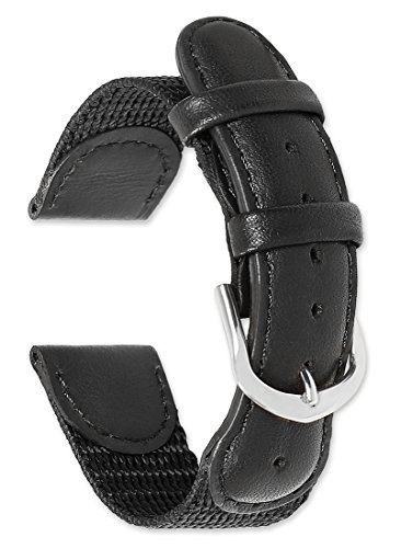 deBeer Swiss Army Compatible Watch Band - Black - 19mm