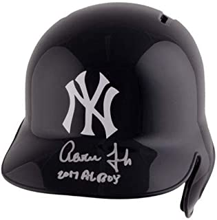 fcc296513 Aaron Judge Autographed Signed Memorabilia 2017 Al Roy New York Yankees  Batting Helmet - Certified Authentic