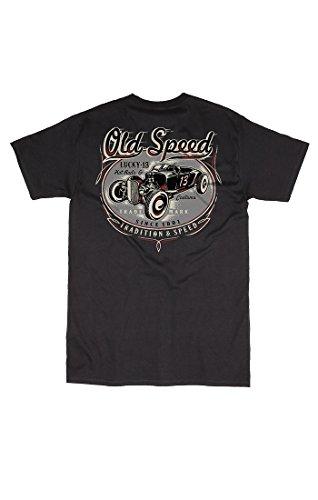 Lucky 13 T-Shirt Old Custom Black