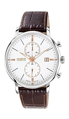 Dugena Premium 7000169 - Orologio da polso uomo, pelle, colore: marrone