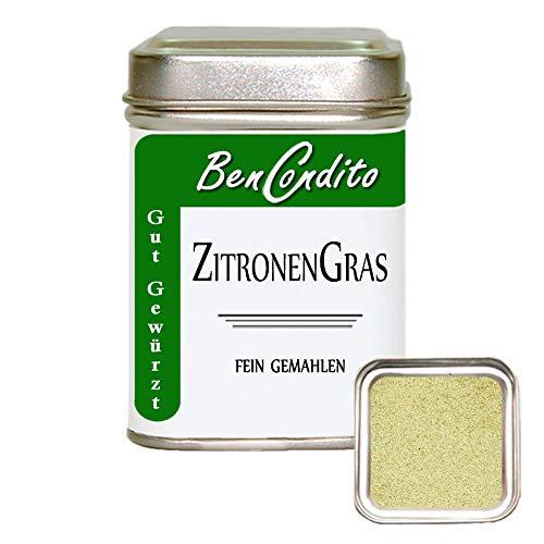 BenCondito I Zitronengras (Lemongras) - fein gemahlen 50 Gr. Dose