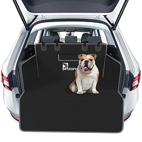 Kofferraumauskleidung, 100% Wasserdicht Hund Autositzbezug, Haustier-Kofferraumschutz, Universalgröße Kofferraumschutzmatte (Grau) (Schwarz & Grau)