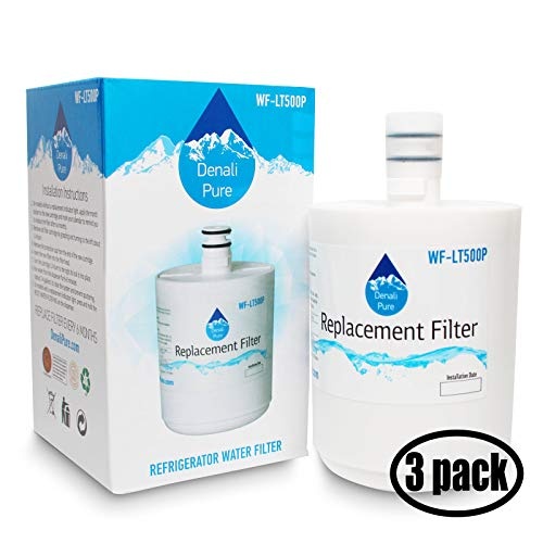3-Pack Replacement for LG LFX25973ST Refrigerator Water Filter - Compatible with LG 5231JA2002A, LT500P Fridge Water Filter Cartridge