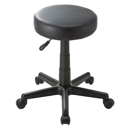 イーサプライ 丸椅子 スツール PUレザー クッション ラウンド キャスター付き オフィス ミーティング EEX-CH30