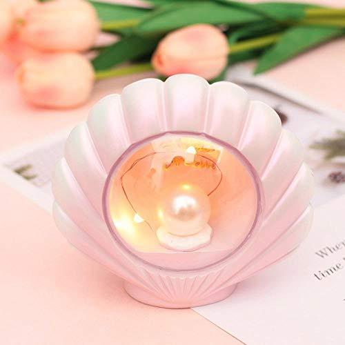 Chambre Lampe Veilleuse Sternlicht Nachtlicht Dekoration Basteln Kleine Dekoration-Rosa Perle Lampe de chevet Veilleuse