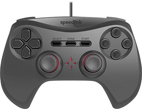 Speedlink STRIKE NX Manette pour PS3 ( 2 Sticks Analogiques, Sticks Analogiques et Touches Sensibles à la Pression pour un Contrôle Parfait, 1.8 m Cable ), Noir