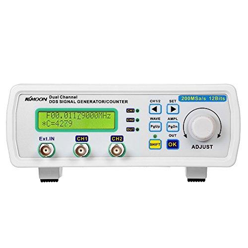 KKmoon Generador de Señales ,DDS de doble Canal ,200MSa/s 25MHz , MHS-5200A