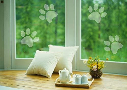 H421ld Juego de 10 pegatinas para ventana de ventana de vinilo de cristal esmerilado, decoración única, protege la ventana de los niños, mascotas