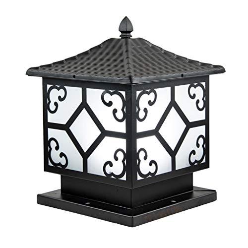 JJZXD Lámpara de Cabeza de Columna, lámpara de Poste de Puerta, lámpara de Pared de Villa, lámpara de césped comunitario, lámpara de Patio Exterior, lámpara de Paisaje LED Cuadrada