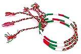 Lot 3 Bracelets Brésiliens Italie Amitié Macramé coton Friendship Porte Bonheur rouge vert blanc