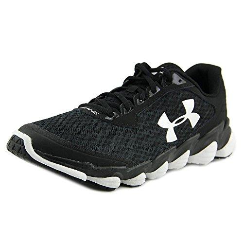 Under Armour Men's Micro G Assert 6 Running Shoe, Black (001)/White, 16