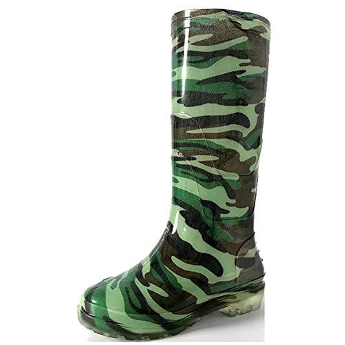 SFGSA Botas Lluvia Bota de Agua Hombre Cubierta del Zapato Impermeable Cubrecalzado Impermeable Moto Botas,44