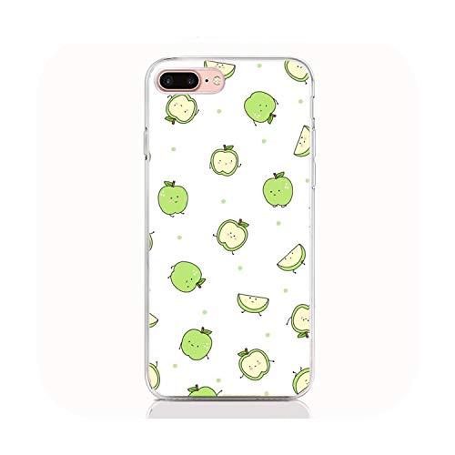 Para iPhone 11 Pro XS max XR X 7 8 Plus 6 6S 5 5S SE 2020 Suave TPU Funda de impresión divertida fruta Coque Shell Casos de teléfono
