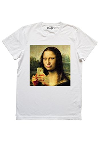 PRESYOU T Shirt Gioconda Selfie Crazy Art (m Donna)