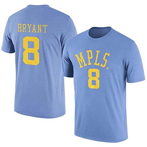 Zxwzzz Uniforme Kobe Byrant Lakers No.8 Retro del Baloncesto De Manga Corta Número Kobe Apariencia Traje Camiseta (Color : Blue 8b, Size : Small)